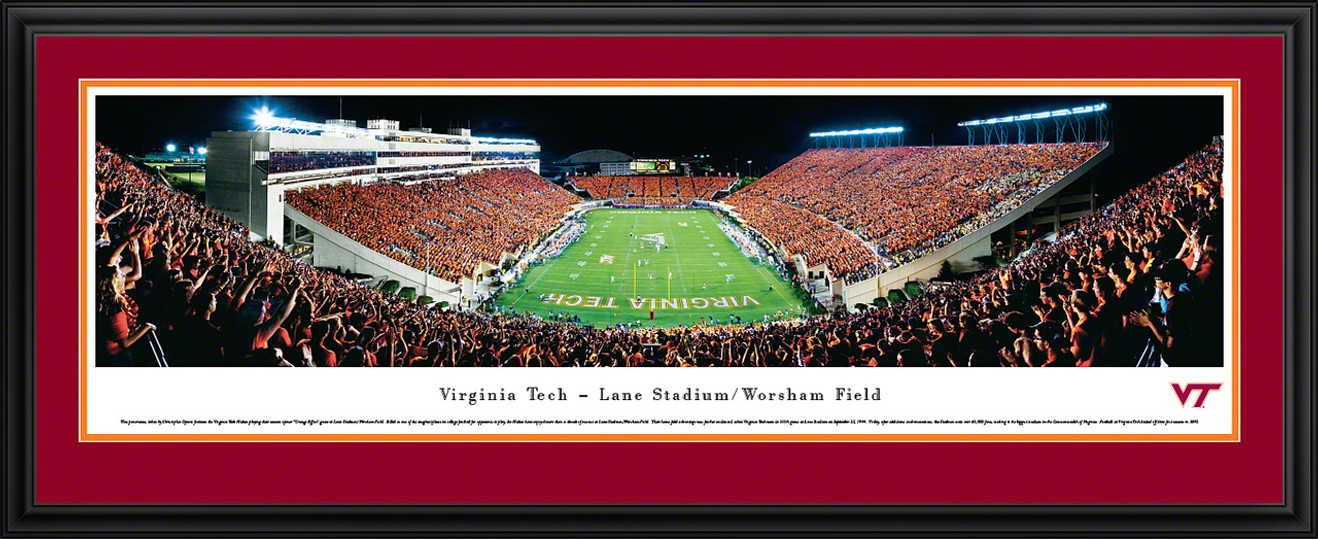 Virginia Tech Hokies Panoramic - Lane Stadium Picture End Zone