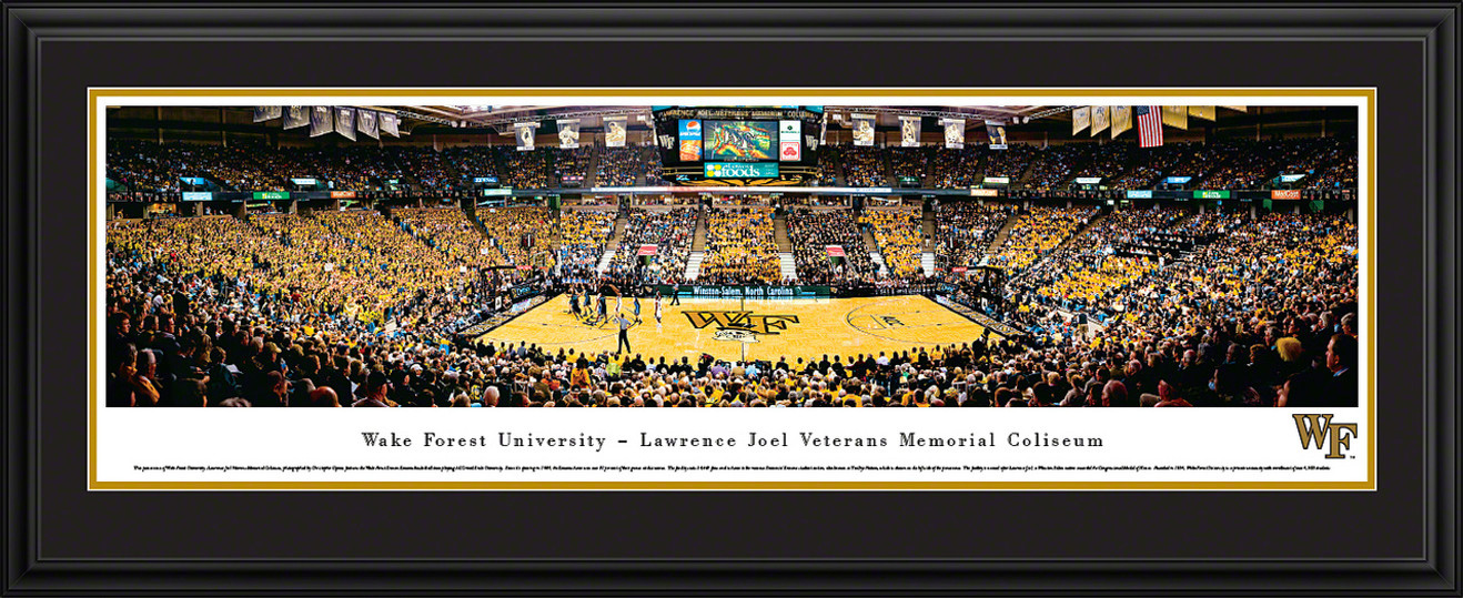 Wake Forest Demon Deacons Panoramic - LJVM Coliseum Picture