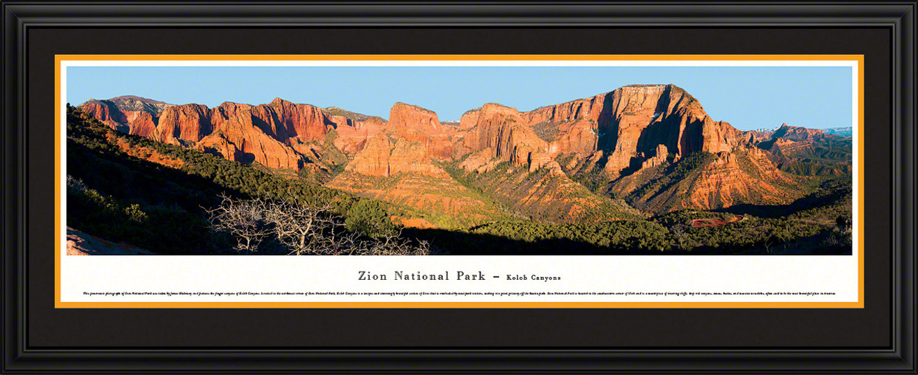 Zion National Park Panoramic Picture - Kolob Canyons