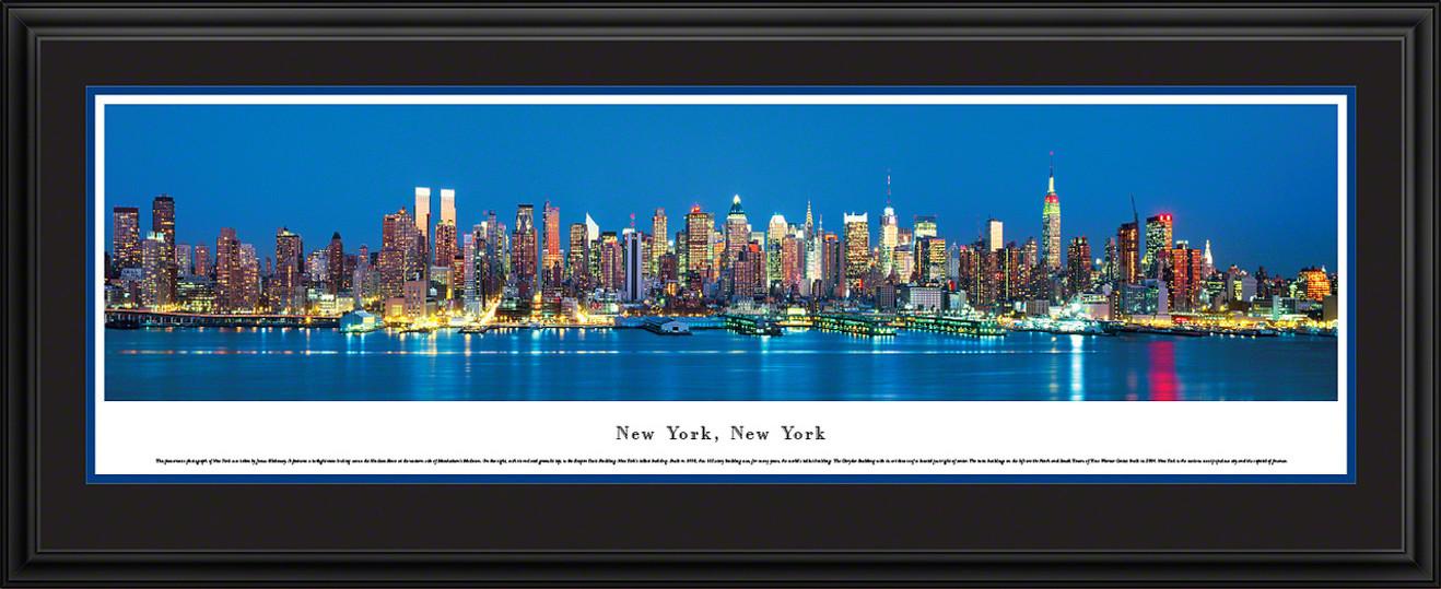 New York City Skyline Panorama - Twilight