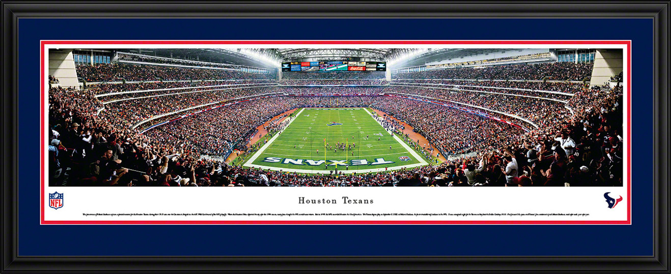 Houston Texans Panoramic - Reliant Stadium Picture - End Zone