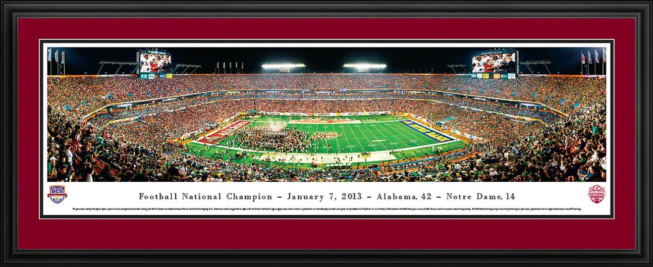 2013 BCS Football Championship Panoramic - Alabama Crimson Tide