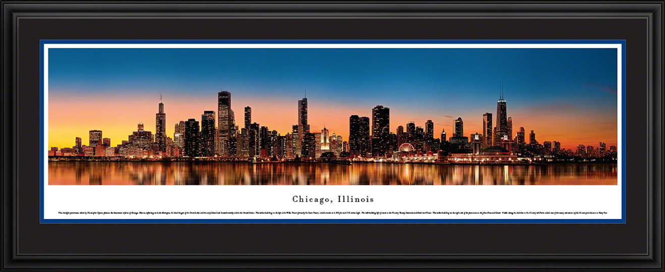 Chicago, Illinois Skyline Panorama - Twilight