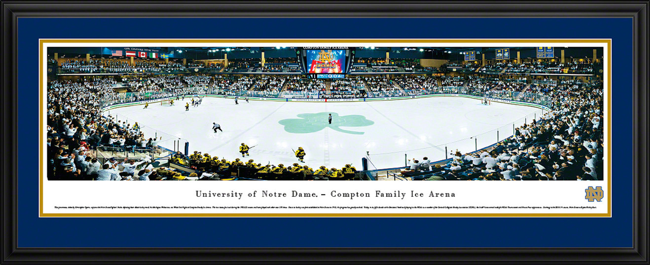 Notre Dame Fighting Irish Panoramic - Compton Family Ice Arena