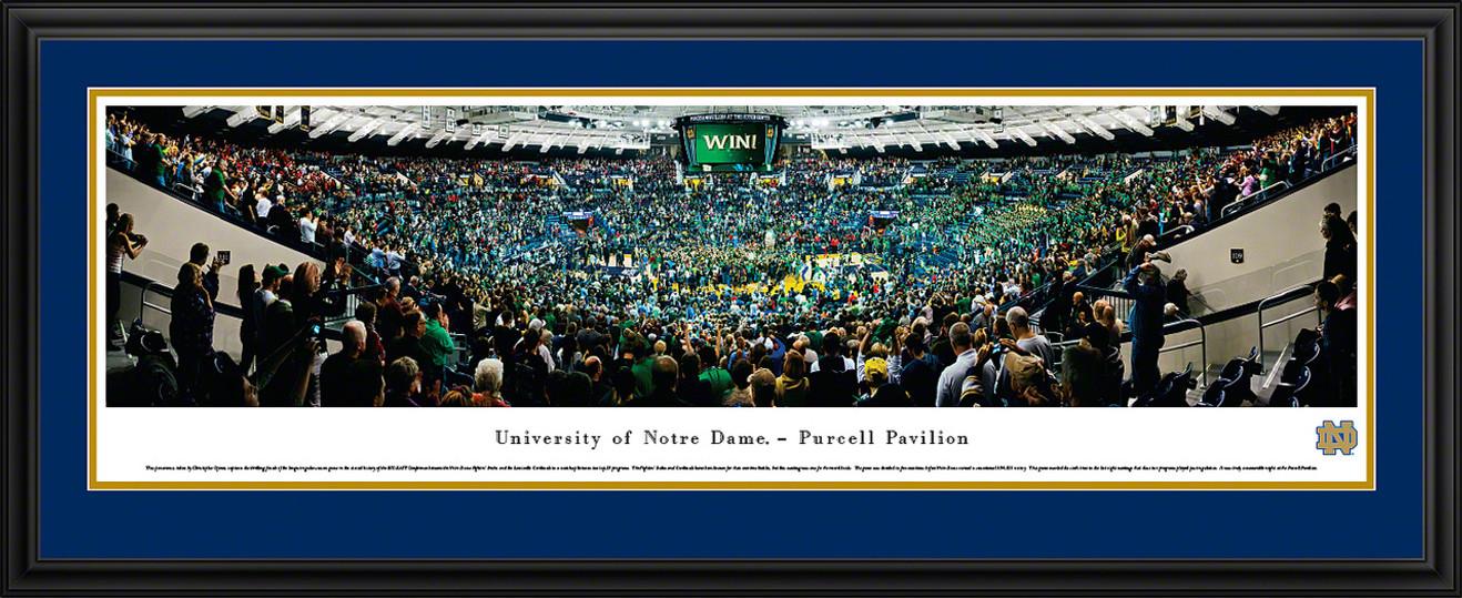 Notre Dame Fighting Irish Panoramic - Purcell Pavilion