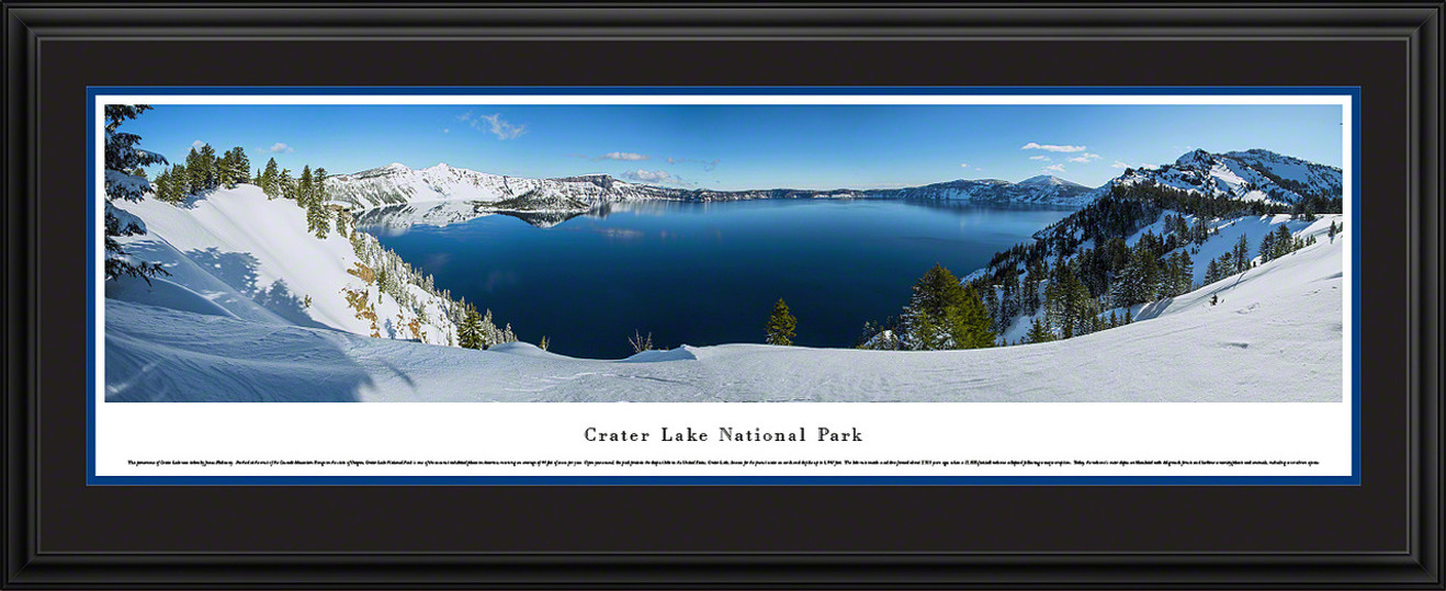 Crater Lake National Park Panoramic Picture - Winter