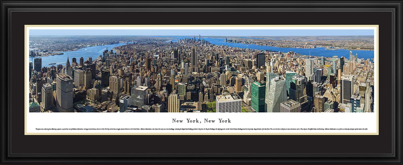 New York City Skyline Panoramic Picture - Midtown Manhattan