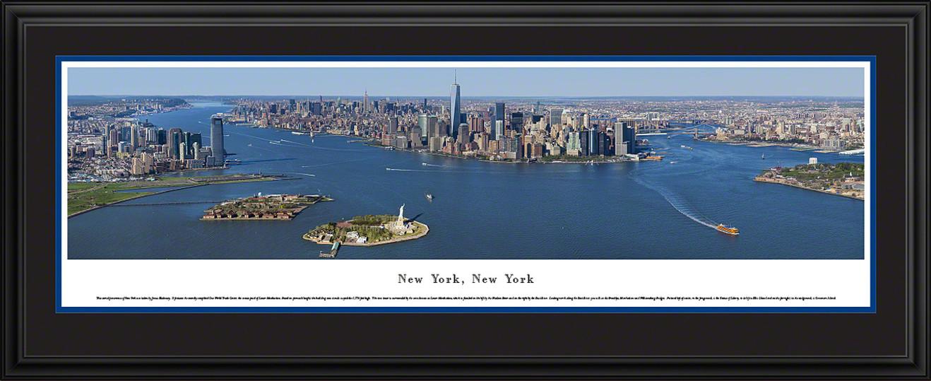 New York City Panoramic Skyline Picture - Lower Manhattan