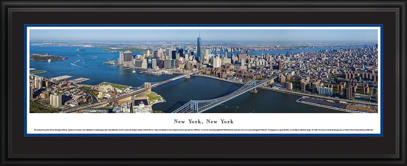New York City Skyline Panoramic Picture - Lower Manhattan