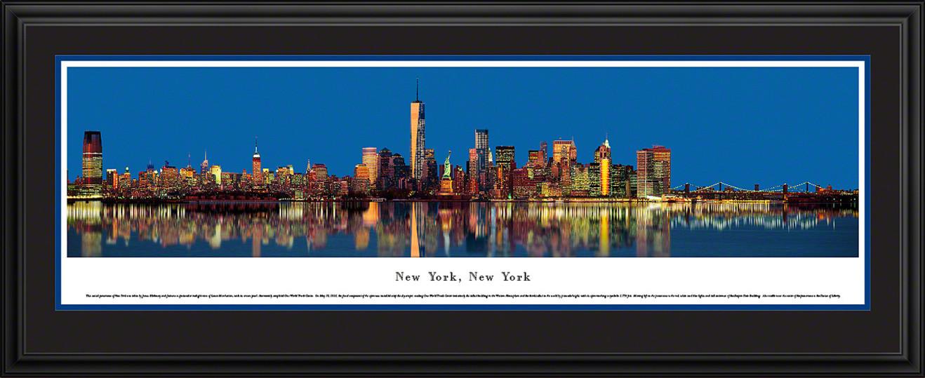 New York City Skyline Panoramic Picture - Twilight