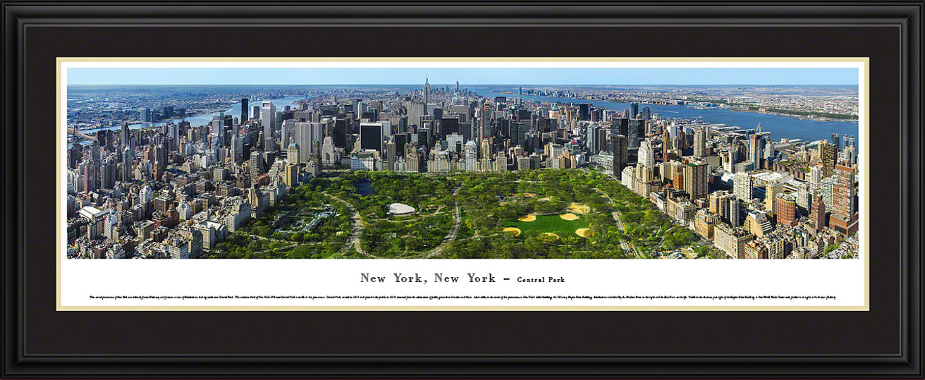 New York City - Central Park Panoramic Picture