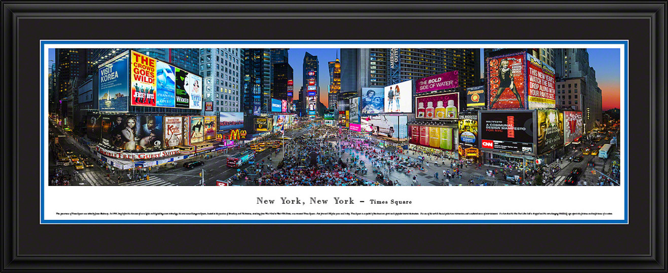 Times Square, New York Panoramic Picture - Twilight
