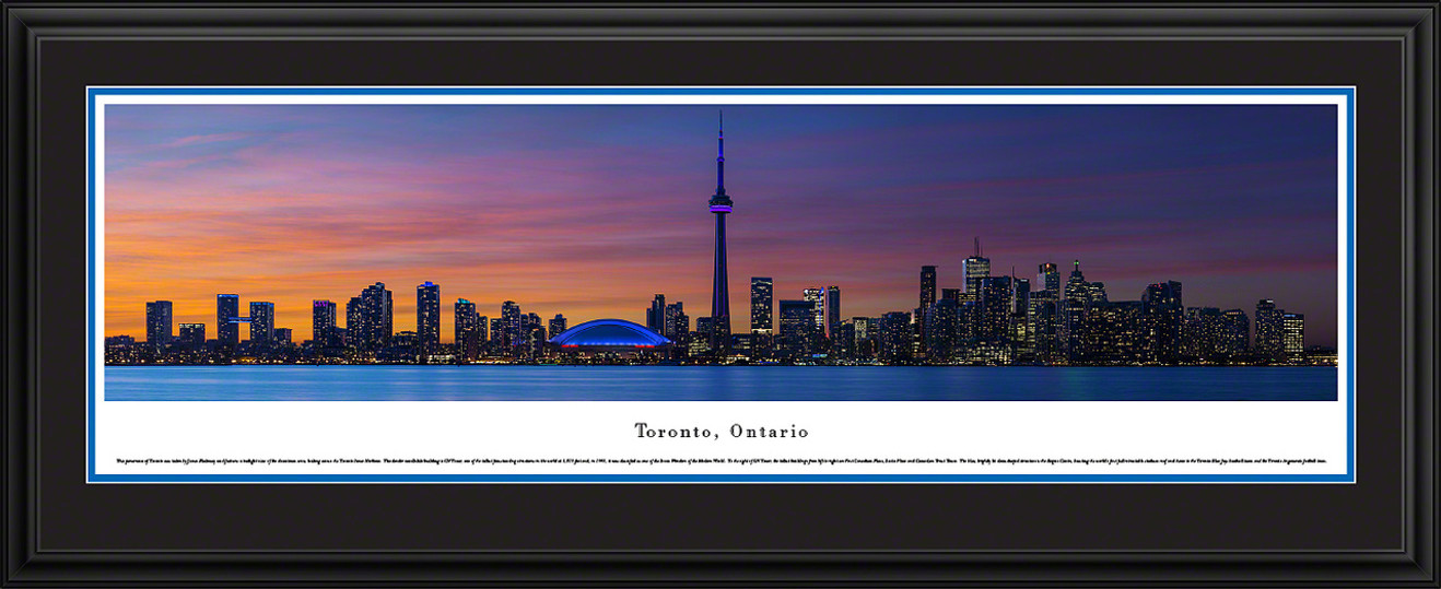 Toronto, Canada City Skyline Panorama - Twilight