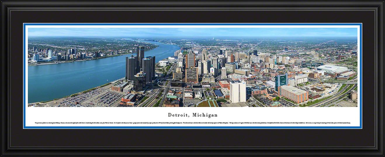 Detroit, Michigan Skyline Panorama
