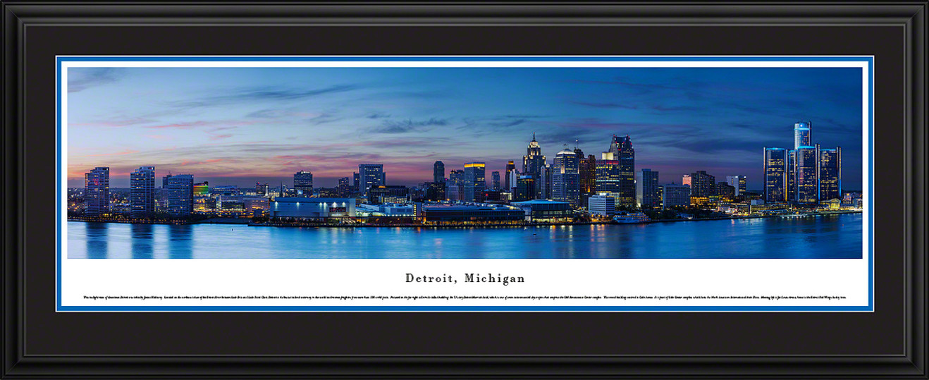Detroit, Michigan City Skyline Panorama - Twilight