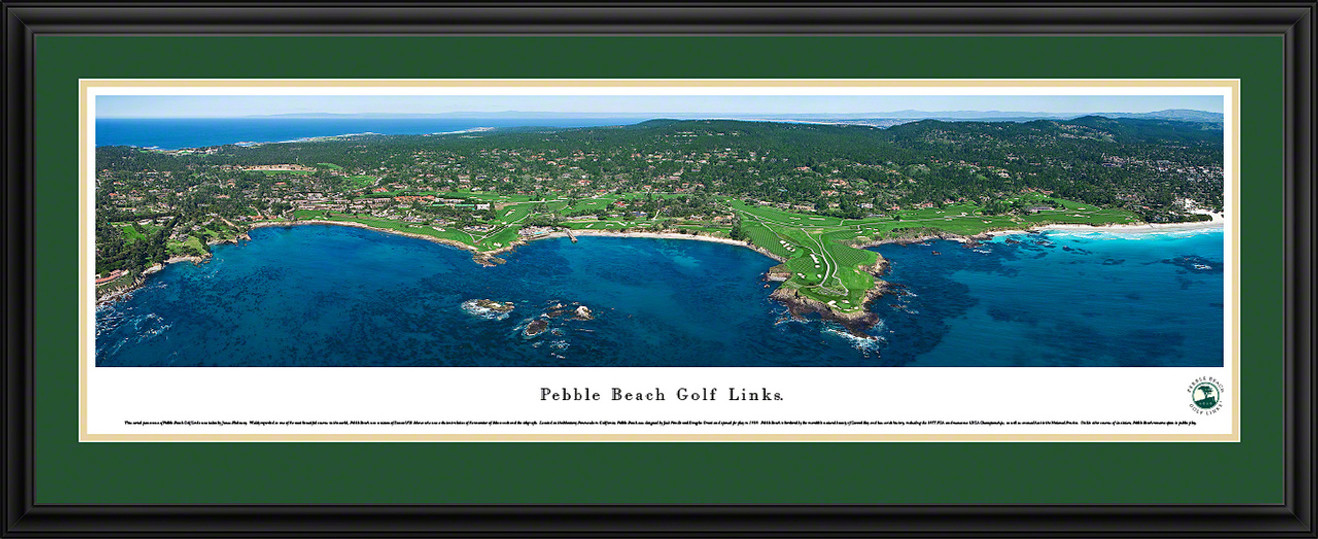 Pebble Beach Golf Links Panoramic Picture