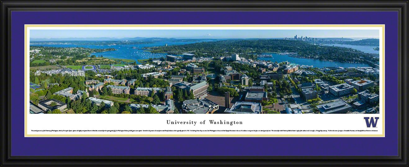 Washington Huskies Football Panoramic - Aerial Campus Picture