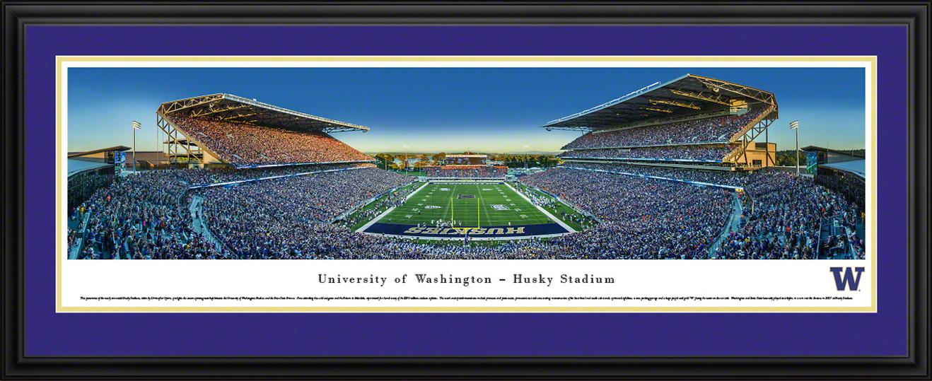 Washington Huskies Football Panoramic - Husky Stadium Picture