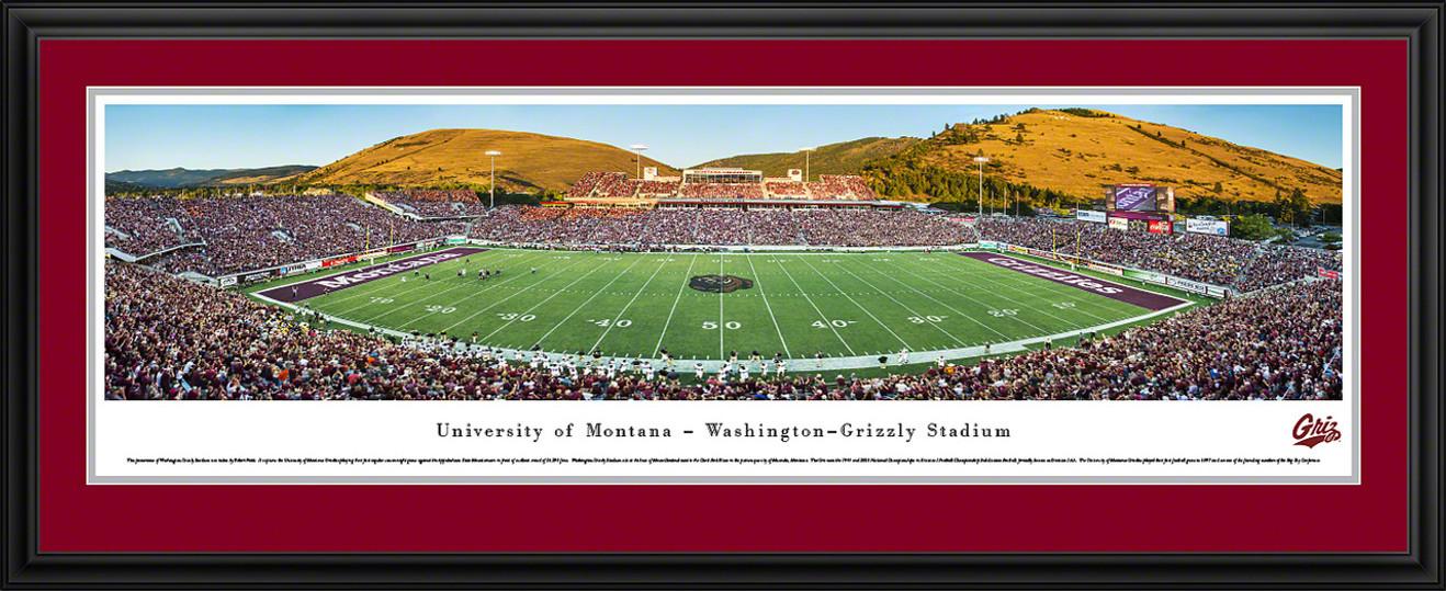 Montana Grizzlies Panoramic - Washington-Grizzly Stadium Picture