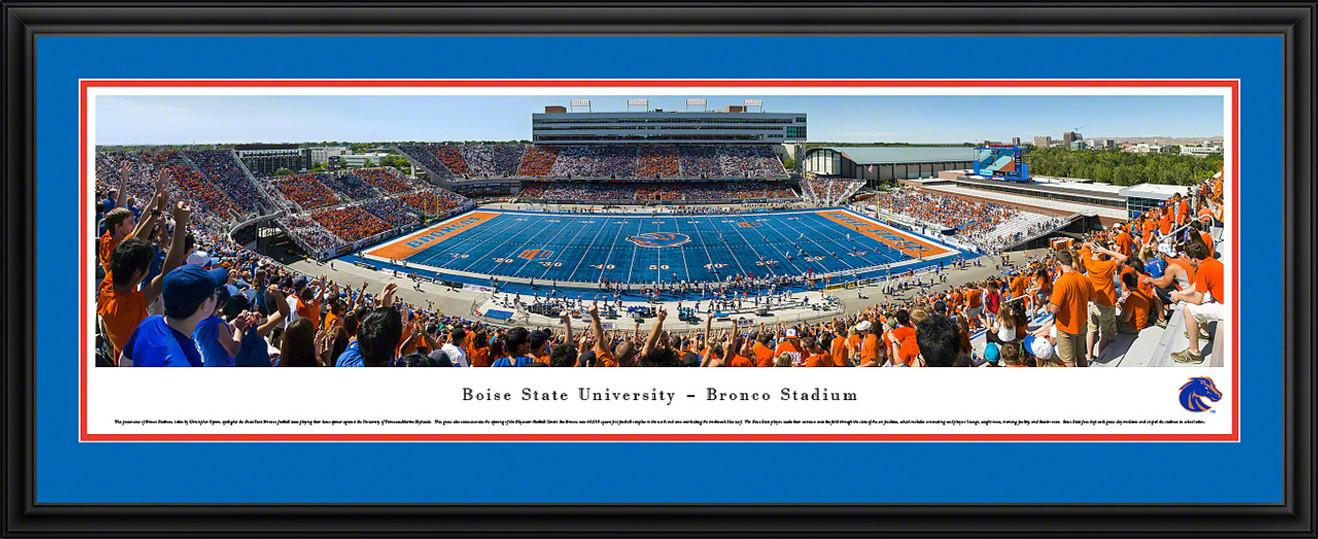 Boise State Broncos Football Panoramic - Bronco Stadium Picture