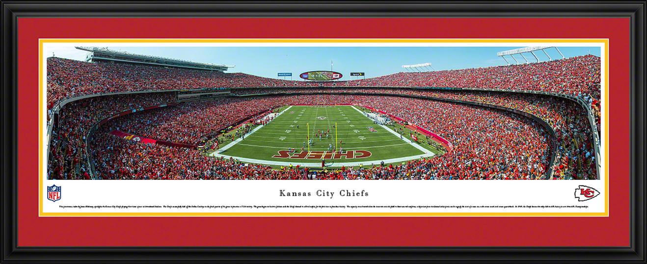 Kansas City Chiefs Panoramic Picture - Arrowhead Stadium End Zone