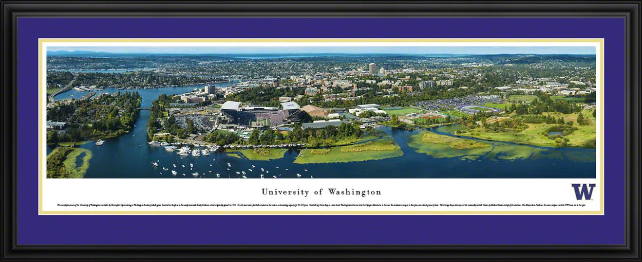 Washington Huskies Football Panoramic - Husky Stadium Aerial Picture