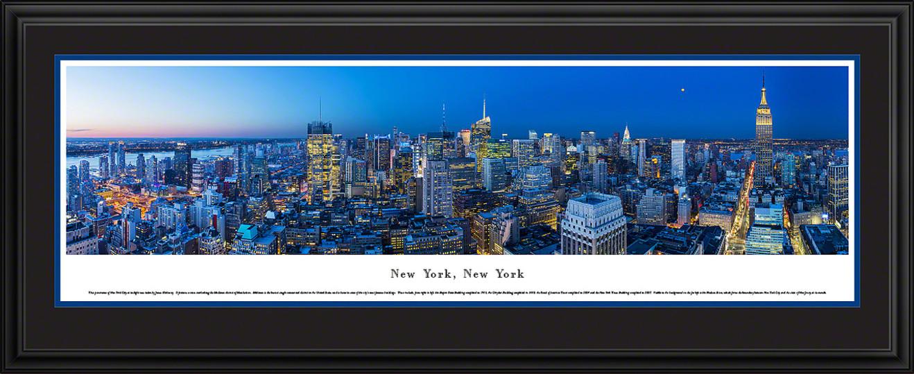 New York Skyline Panoramic Picture - Twilight