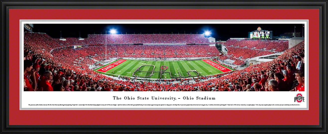 Ohio State Buckeyes Football Panorama - Marching Band Script - Ohio Stadium