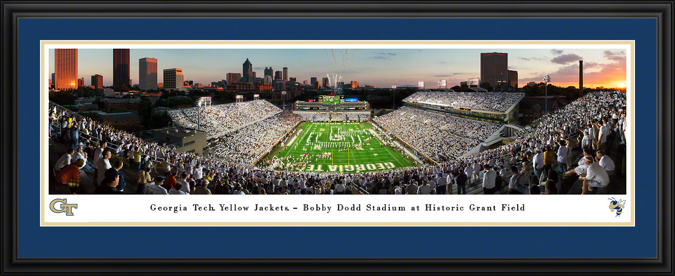 Georgia Tech Yellow Jackets Football - Bobby Dodd Stadium at Grant Field Panorama