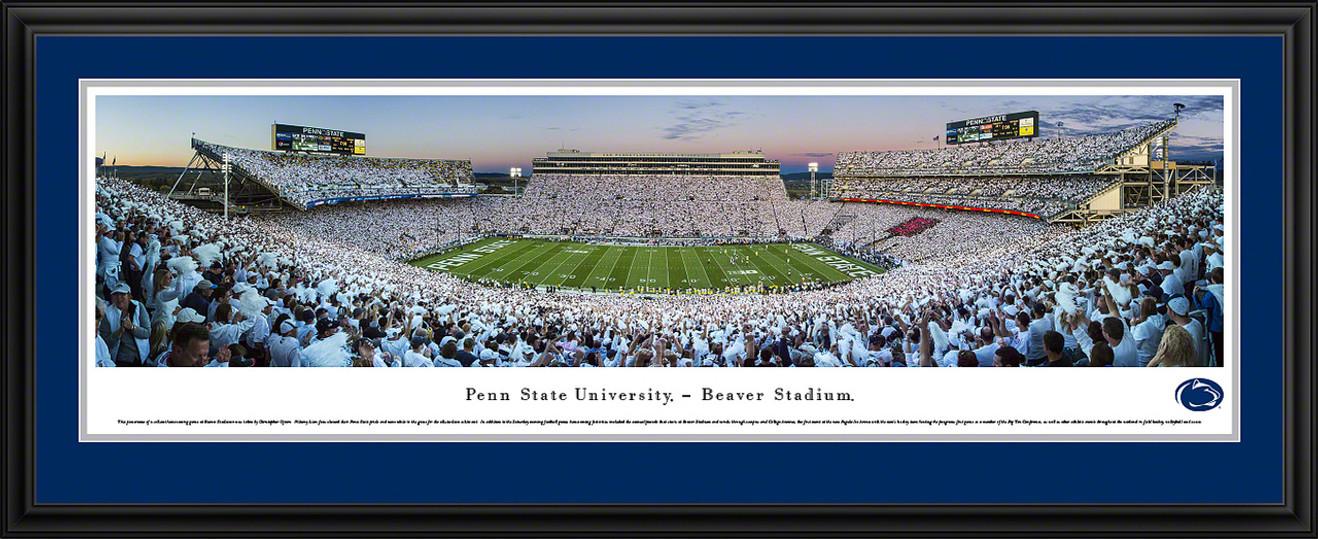Penn State Nittany Lions Football Panorama - Sunset at Beaver Stadium