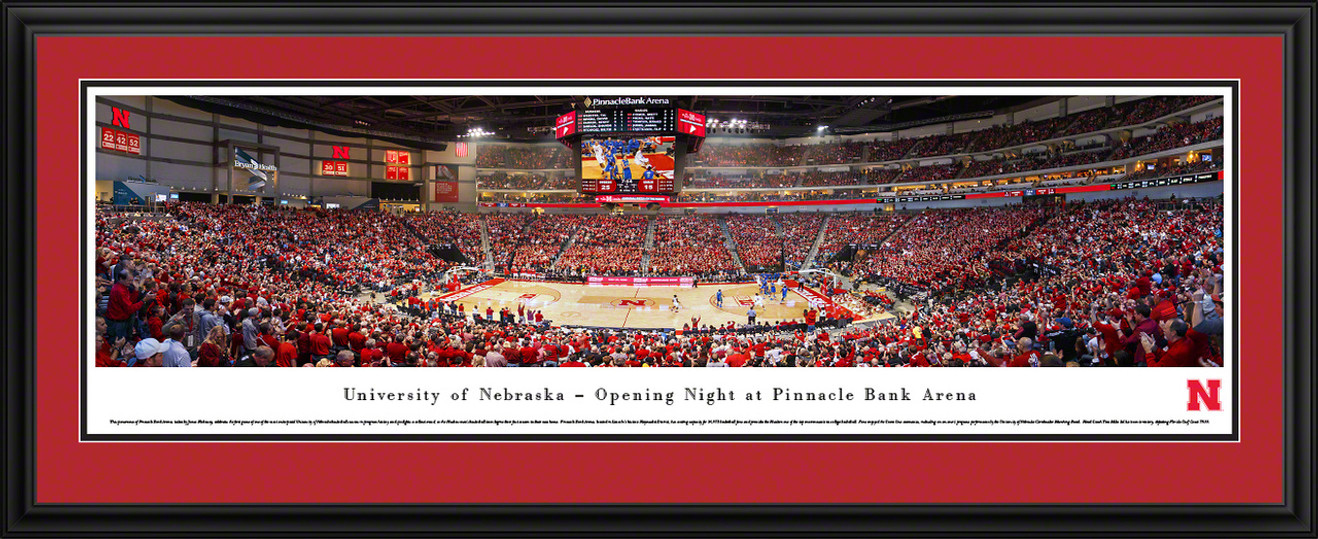 Nebraska Huskers Panoramic - Pinnacle Bank Arena Picture