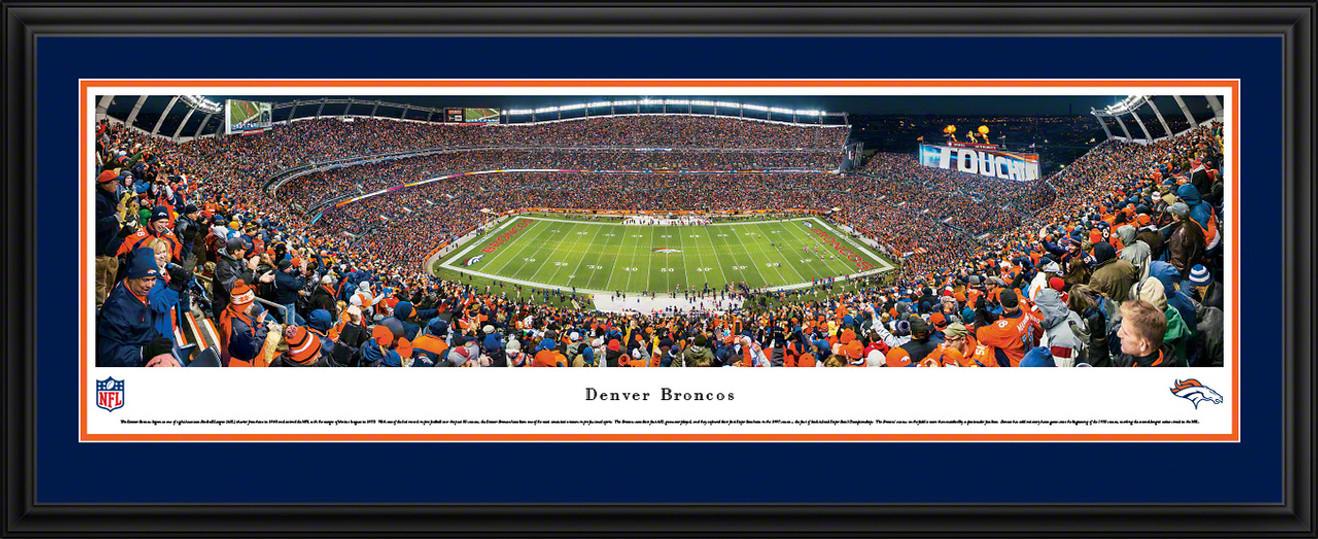 Denver Broncos Panoramic - Mile High Stadium Picture