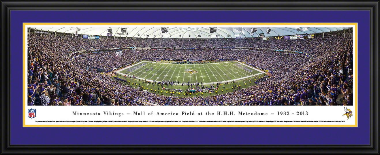 Minnesota Vikings Panoramic - Last Game at the Metrodome