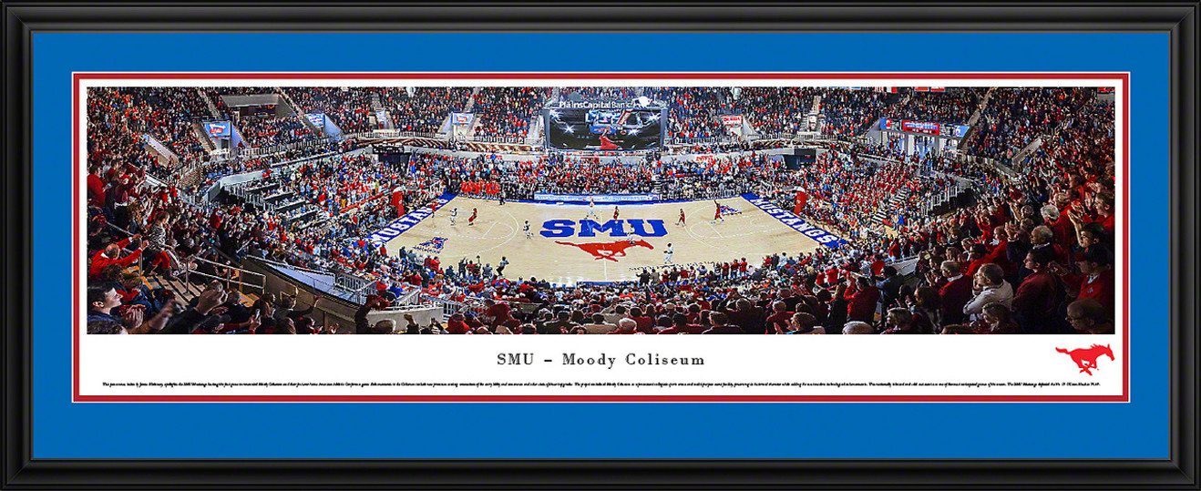 SMU Mustangs Basketball Panoramic Picture - Moody Coliseum