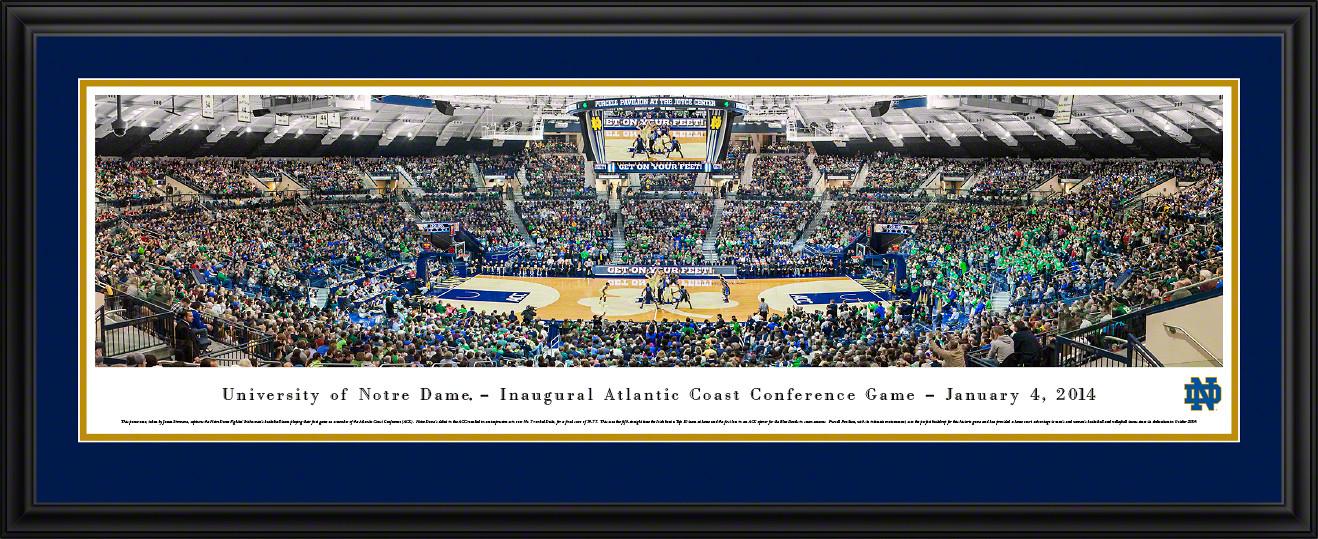 Notre Dame Fighting Irish Basketball Panorama - Joyce Center Inaugural ACC