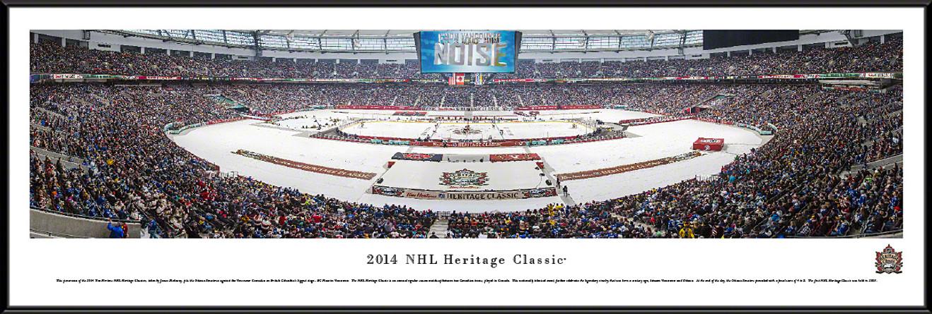2014 Heritage Classic Panoramic Picture - Ottawa Senators vs. Vancouver Canucks