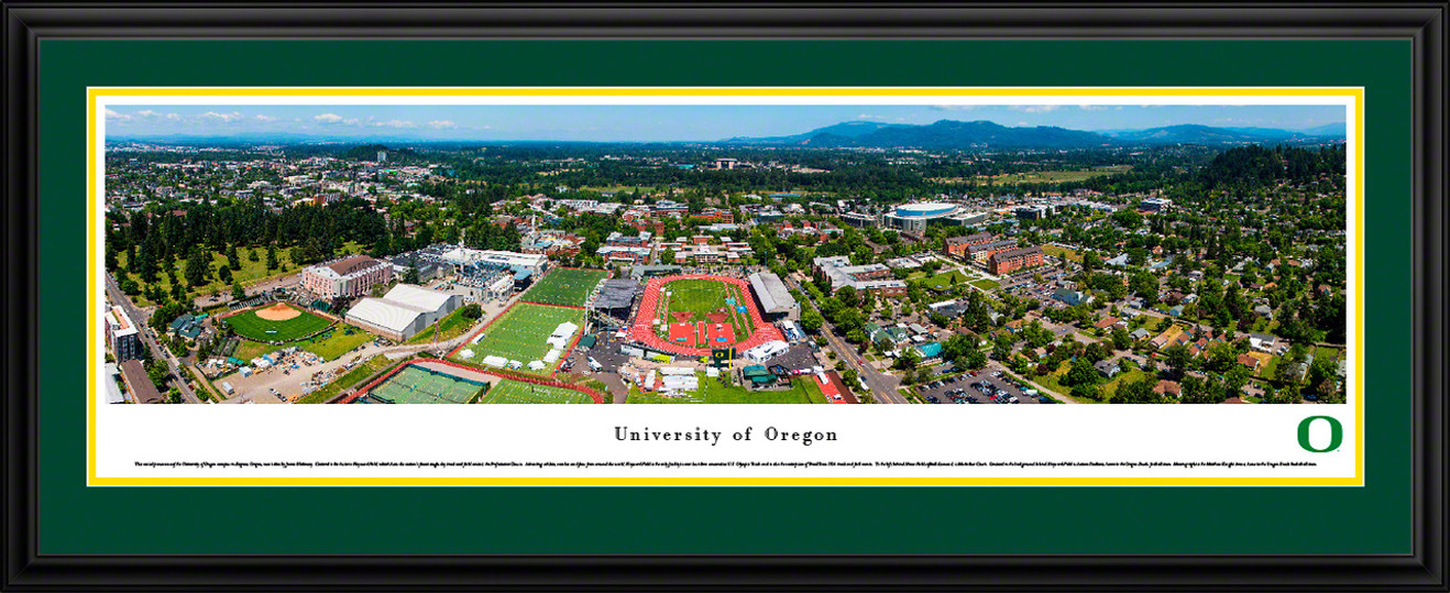 Oregon Campus during Prefontaine Classic Panoramic Picture