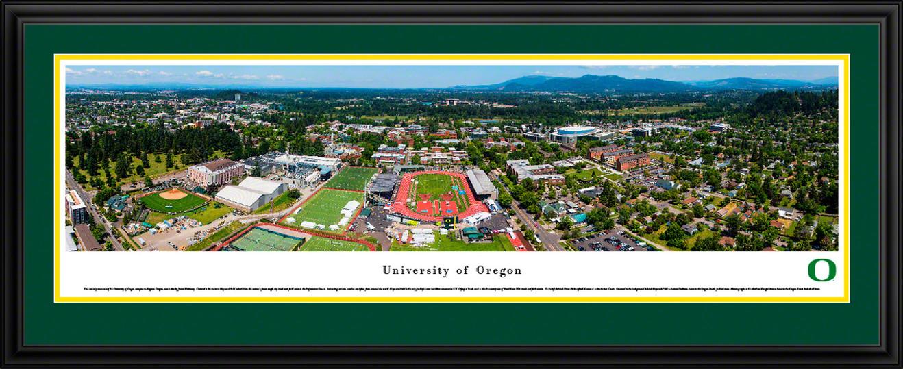 Oregon Campus during Prefontaine Classic Panoramic Picture