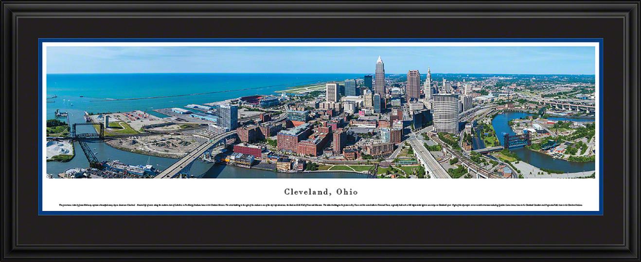 Cleveland, Ohio Skyline Panoramic Picture