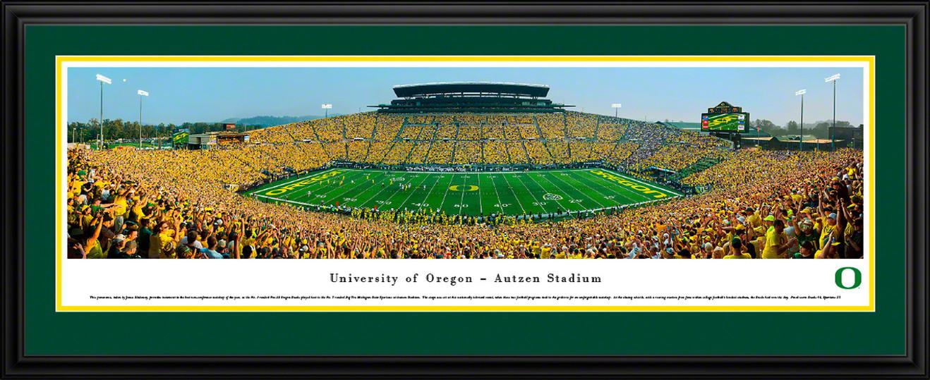 Oregon Ducks Panoramic Picture - Autzen Stadium Panorama