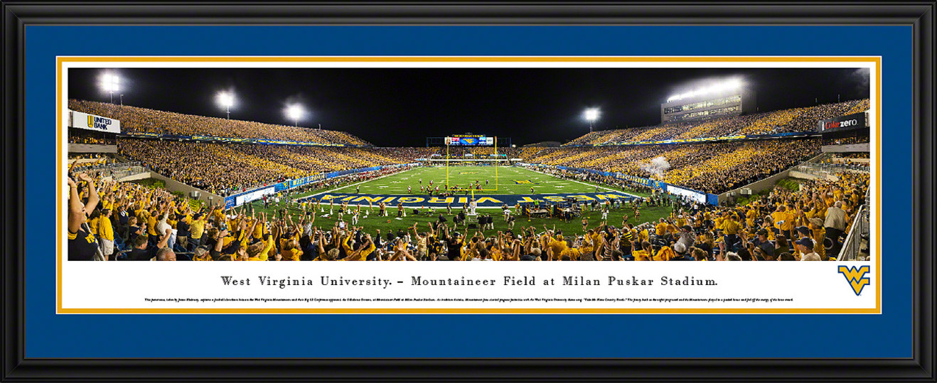 WVU Mountaineers Football Panoramic Picture - Mountaineer Field at Milan Puskar Stadium