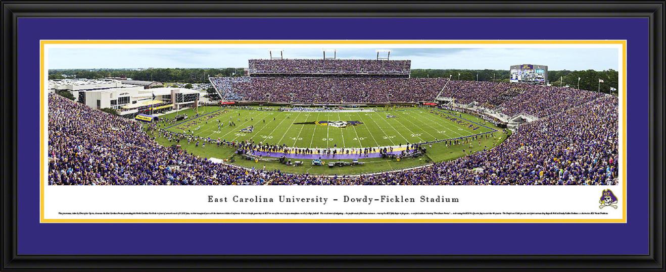 East Carolina Pirates Panoramic Picture -  Dowdy Ficklen Stadium