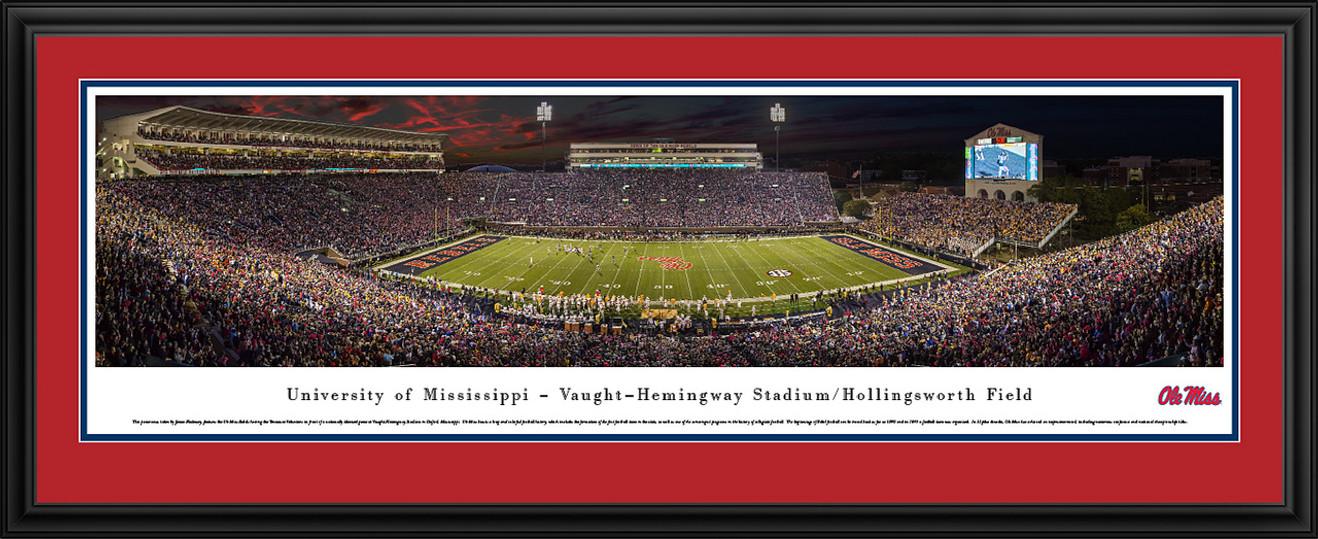 Ole Miss Rebels Panoramic Picture - Vaught-Hemingway Stadium