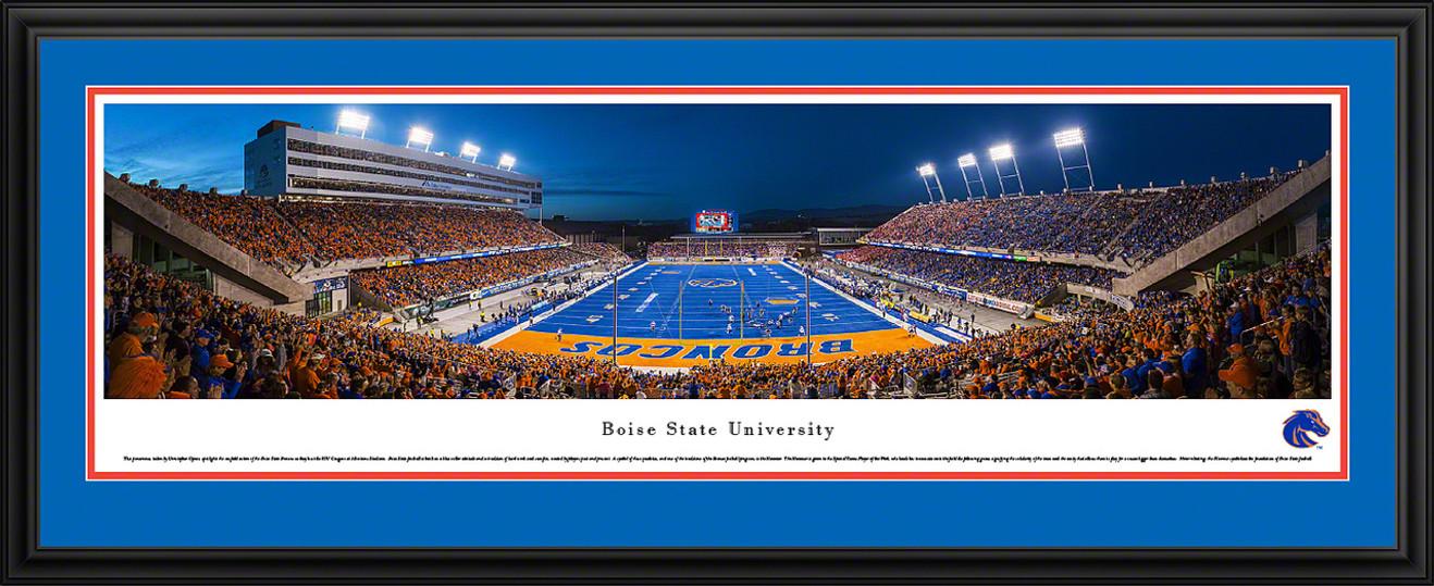 Boise State Broncos Panoramic - Albertsons Stadium Picture