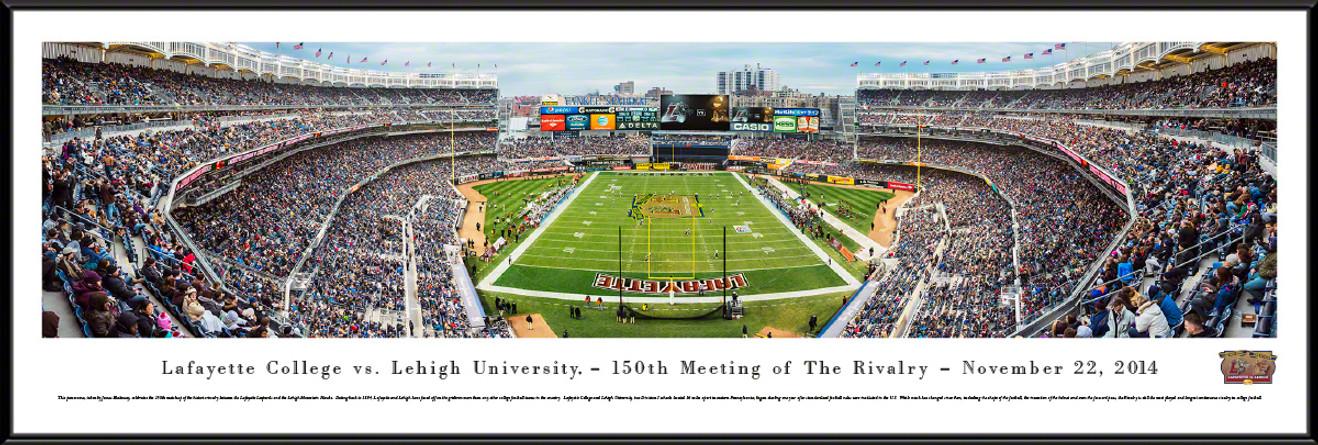Lafayette vs. Lehigh Rivalry Panoramic -150th Meeting - Yankee Stadium Picture