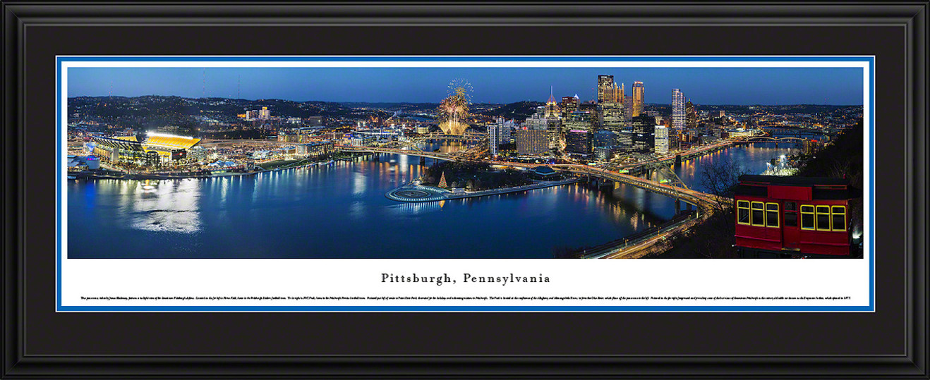 Pittsburgh, Pennsylvania Skyline Panoramic Picture - Twilight