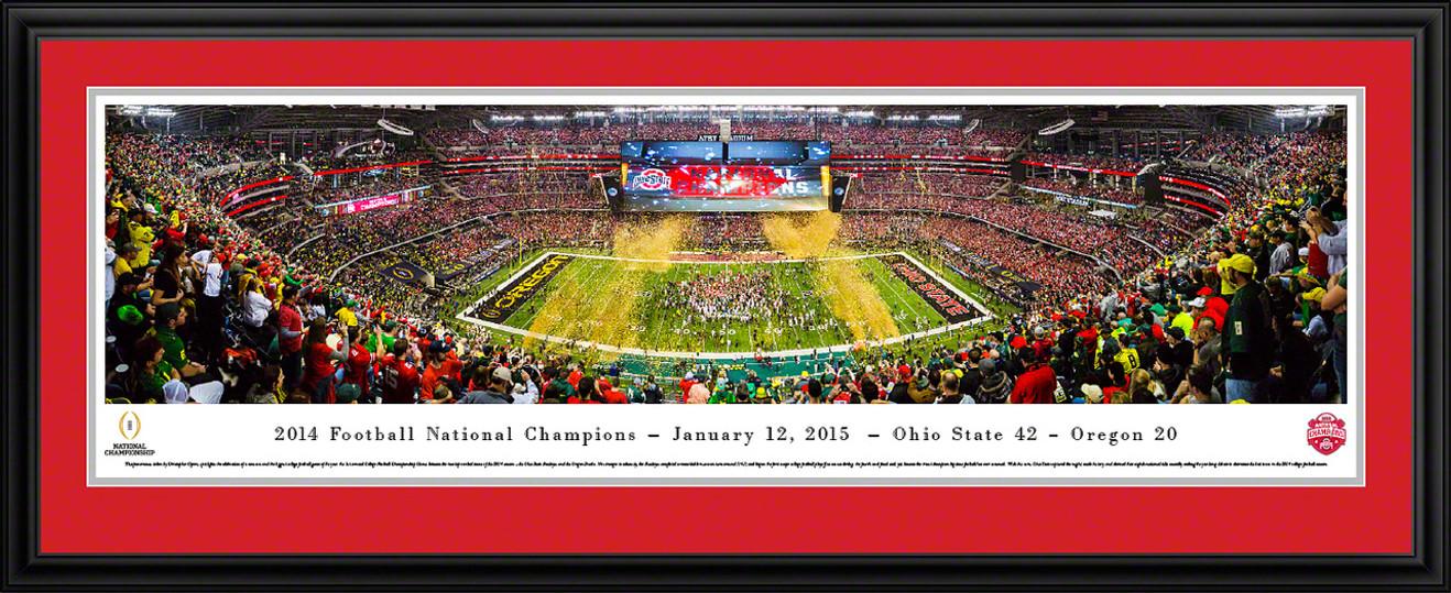 2015 CFP Championship Panoramic Picture - Ohio State Buckeyes