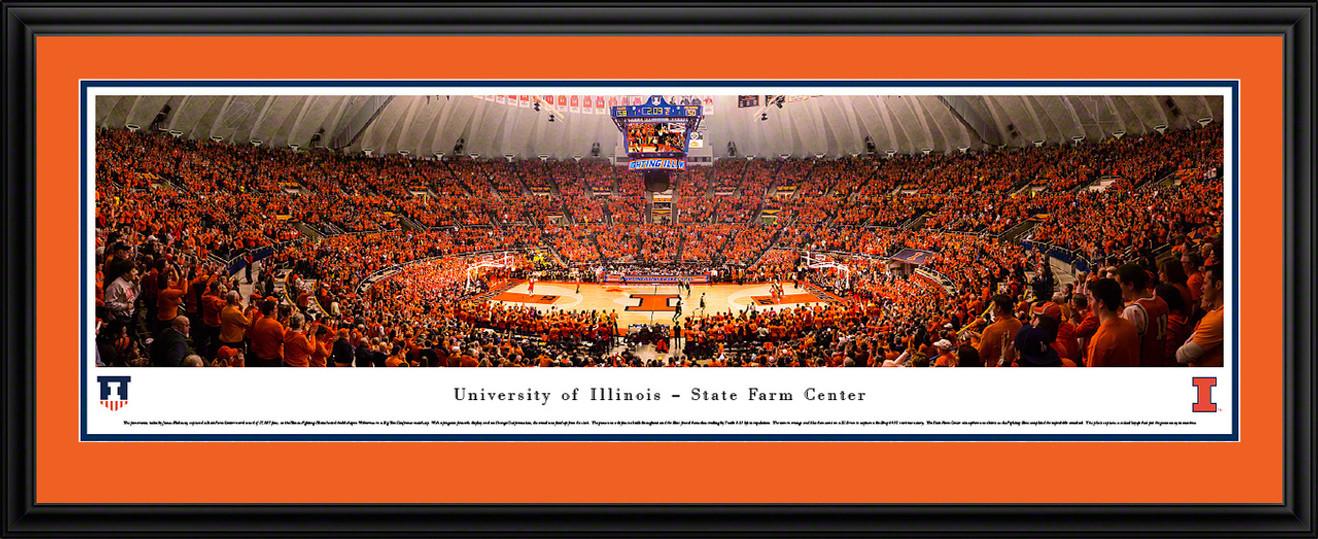 Fighting Illini Basketball Panoramic - State Farm Center