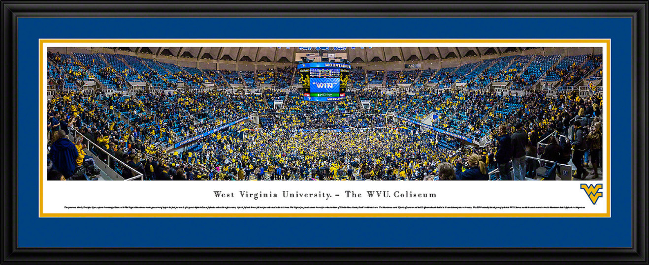 WVU Mountaineers Basketball Panoramic Picture