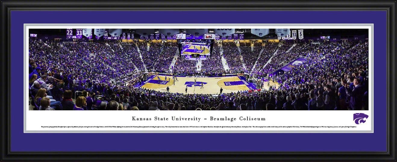 Kansas State Wildcats Basketball Panoramic - Bramlage Coliseum